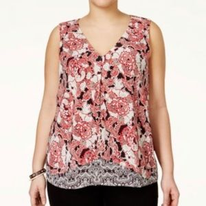 Gorgeous Layered Lucky Brand Tank Blouse